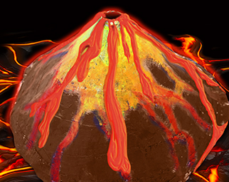 Glowing Volcano