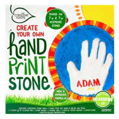 Create your own hand print stone