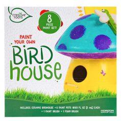Paint Your Own Mushroom Birdhouse