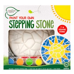 Paint your own sun stepping stone