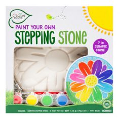 Paint your own flower stepping stone