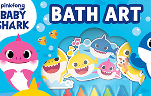This Baby Shark Bath Art Set Will Make Bath Time Your Kid's Favorite - Romper
