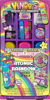 Vendees Atomic Rainbow Layered Lip Balm