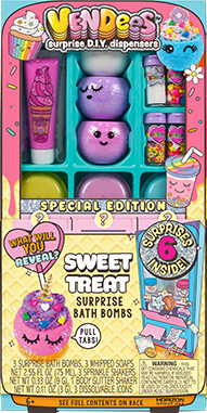Vendees Sweet Treats Surprise Bath Bombs