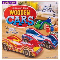 Build and Paint Wooden Cars