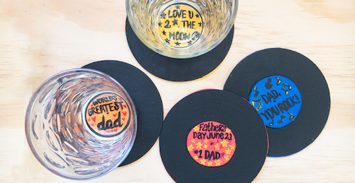 CraftProjectIdeas.com Father's Day Record Coasters on NBC Nightly News